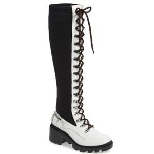 Free People Silent D Arlo laceup tall combat boots